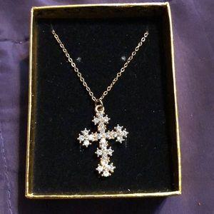 Jewelry - Crystal cross necklace